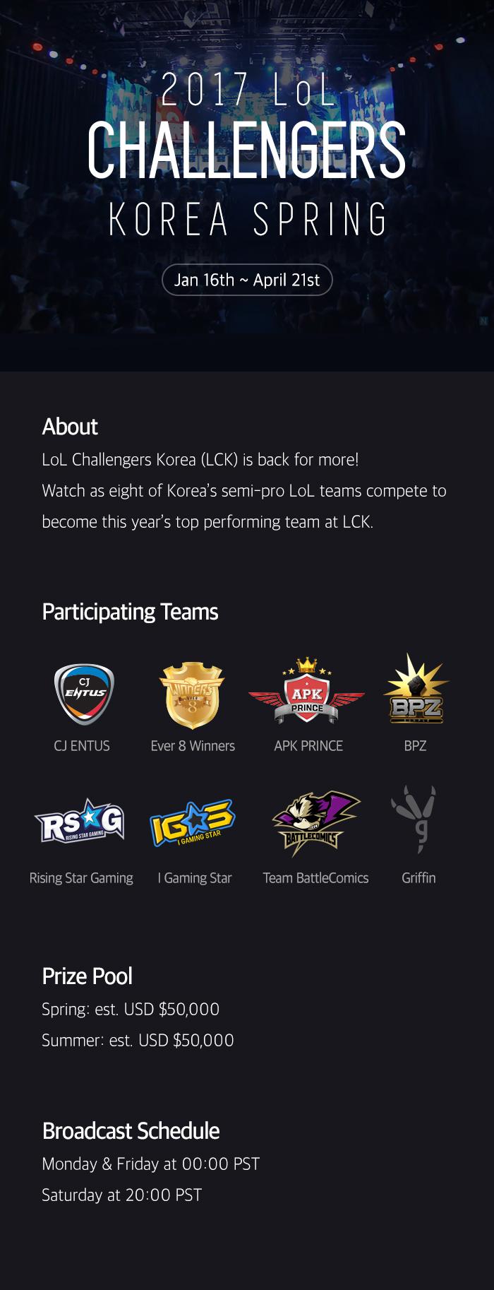 2017 LoL Challengers Korea –Info